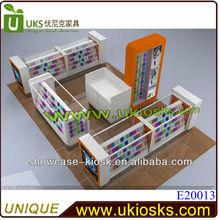 2014 white baking paint good service 4*3m phone accessories kiosk&phone cases kiosk&cell phone accessories kiosk