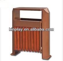 wooden outdoor plastic dustbin