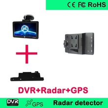2013 latest new design car GPS HD DVR and Radar Detector in one combo