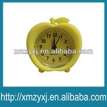 apple food shaped cheap silicone alarm clock
