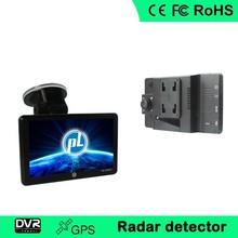 Hot sale 5 inch car GPS DVR Radar Detector with FM,Bluetooth,AV-IN