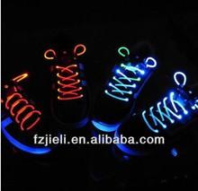 The 1st generation of glowing led shoelaces custom shoelaces shoelace charms wholesale