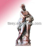 Nude lady bronze garden sculpture