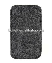 felt sleeve for phone in light grey