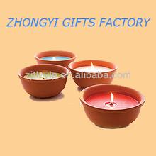 Outdoor Citronella Candles in ceramic pot