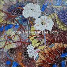 glass mosaic tile artwork wall background picture pattern as house decorative material