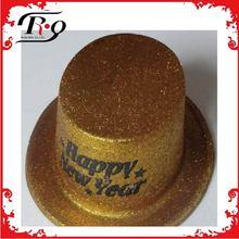 yellow new year glitter top hats