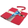 Hot Selling candy color Fashion Universal Women 3 Fold Zipper Magnet Leather Wrist Wallet for Samsung S IV iPhone 5 5C 5S