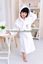 with hooded kid 100% cotton bathrobe