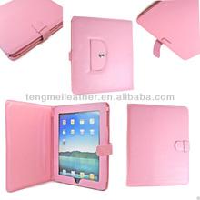 Specially New Designed Folio Leather Case Cover For iPad Mini,Pink Strap Case For iPad Mini
