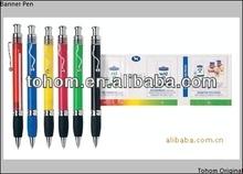 promotinal plastic ballpoint pen,retractable banner pens
