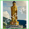 Outdoor Large Brass Standing Buddha BFSN-C034L