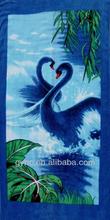 Beauty Swan Printed Cotton Beach Towel