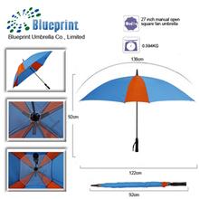 27 inch sun customized stylish windproof promotional umbrella manufacture