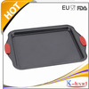 Sales Promotion Carbon Steel Jelly Roll Baking Pan With Silicone Handles
