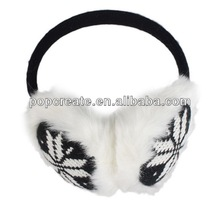 Fashion knitted balck earmuff