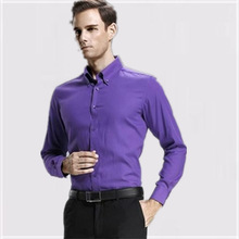 professional tailor made solid color mens dress shirts for business