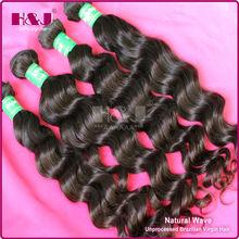 brazilian 100% natural human virgin unprocessed dream weave remi hair