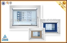 Wall Mount Lockable safty glass whiteboard with key