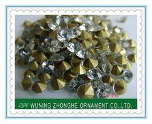 2014 wholesale machine cut hand blown glass beads ss4.5-ss39
