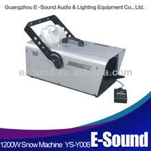 New style high quality 1200w snow making machine