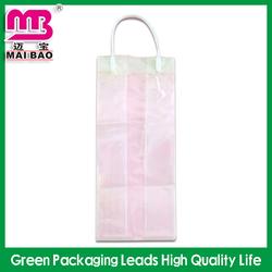 high class plastic pp christmas wine bottle gift bag