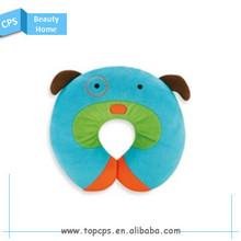 Cute design u shape fleece travel neck pillow for kids