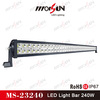 New 240W dual row steel Cree led roof driving light bar for heavy duty, off road vehicle car lamp