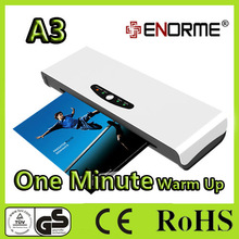 A4 or A3 size hot/cold Photo and Pouch Office laminating machine (1 minute warm up)
