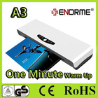A4 or A3 size office hot cold film or Pouch lamination machine (1 minute warm up)