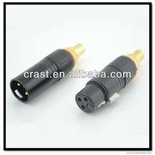 Hi End Audio Grade Gold Plated XLR Male /XLR Female to RCA Female Audio Adapter