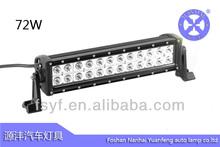High quality 16 inch 72W 10V-30V DC 24PCS*3W LED water proof led light bar