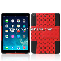 Hard case for ipad air,Hybrid PC + Silicone Defender Case for iPad Air, with Stand