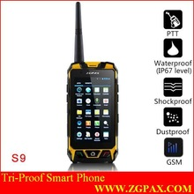 Tri-proof smart phone IP67 2014 PTT ZGPAX walkie talkie communication