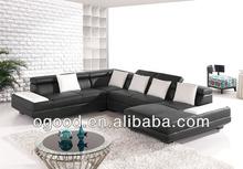 Top Quality Classic Black Leather Sofa Designs