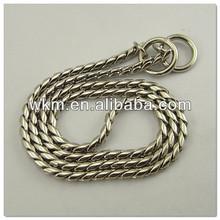 Brass Chromium Plated Choke Chain Dog Collar