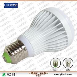 7w led energy saving light bulb