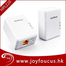 oem de fábrica 200 mbps adaptador powerline plc hpl220 internet tv modem
