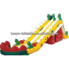 Jungle Design Christmas Residential Inflatable Slide Long Slide With Castle House