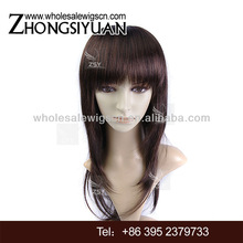 Best selling 100 kanekalon synthetic wigs highlight color