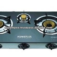 3 Burner Glass Gas Stove