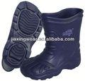 Nova injeção de cobra botas de couro para o exterior e promoção, luz e comforatable