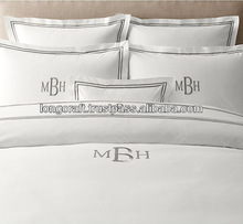 Personalized embroiderey linen, cotton bedding set