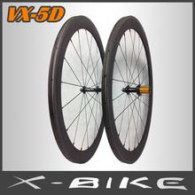 700c carbon fiber lightweight wheelsets for road bike
