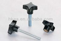 ISO 9001:2008 star knob thumb screw metal and plastic fabrication service