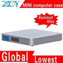 XCY X-26y industrial pc case, mini computer cases, htpc case aluminum computer enclosure support USB Port/switch /power