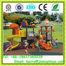 Plastic playground slide equipment, mall play area equipment, residential park slide for children JMQ-12021
