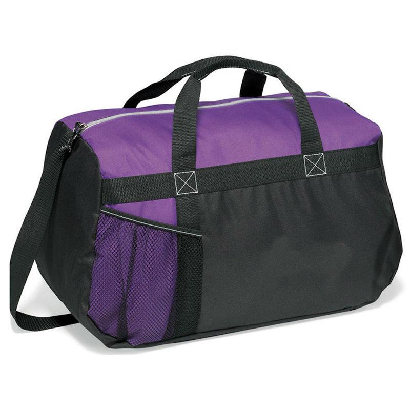 600D Sport Crossbody Bag Custom Travel Duffel Bag - Purple