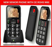 enjoy w60 big button phone with loudly voice .cradle .desktop charger