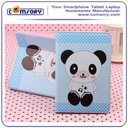 For iPad Air ipad 5 cute animal leather case lovely panda bear giraffe duck elephant frog cover